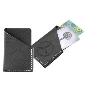 Vertical Leather Business Card Wallet