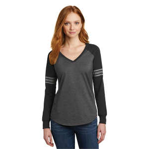 District® Women's Game Long Sleeve V-Neck Tee
