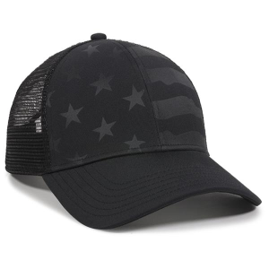 Debossed Stars and Stripes Baseball Cap