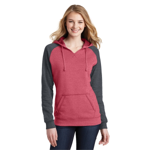 District® Women's Lightweight Fleece Raglan Hoodie