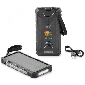 Super Off-Road 12,000 mAh Solar Wireless Power Bank
